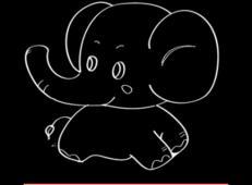 大象简笔画图片_大象简笔画动画步骤
