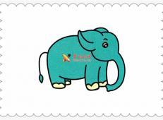 大象简笔画的画法步骤