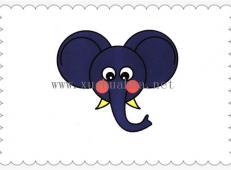 简笔画大象头的画法