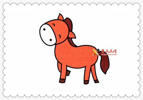 小马简笔画的画法__野生动物
