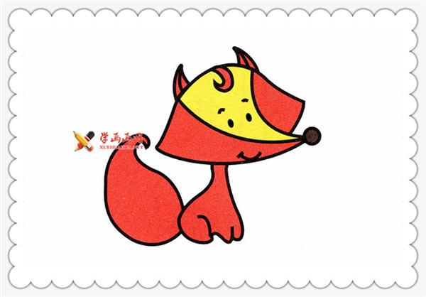 儿童画教程:简笔画小狐狸的画法