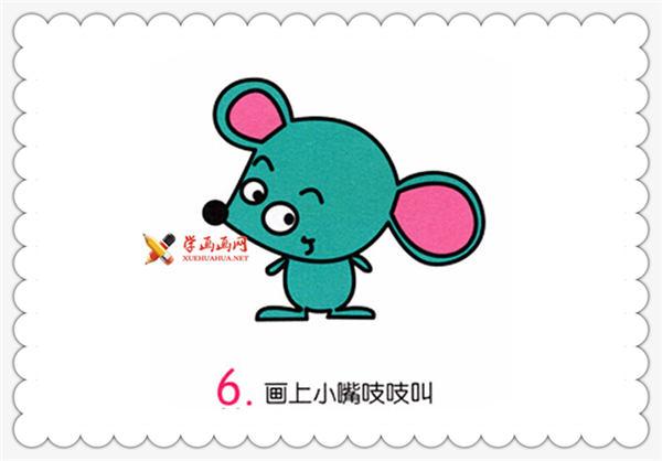 简笔画小老鼠的画法__野生动物