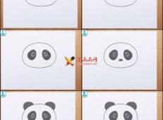 超简单的熊猫简笔画教程