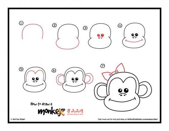 3种简笔画猴子的画法