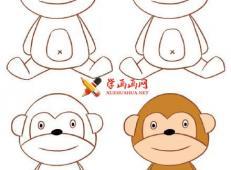 9种卡通猴子的简笔画画法
