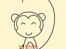 教你画一只萌猴子简笔画