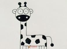 可爱的长颈鹿简笔画的画法