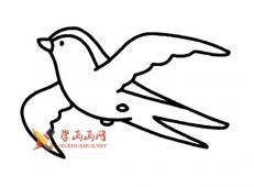 7款燕子的简笔画画法素材集合