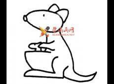 简单的步骤教你画袋鼠的简笔画
