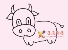 公牛的简笔画画法图片大全