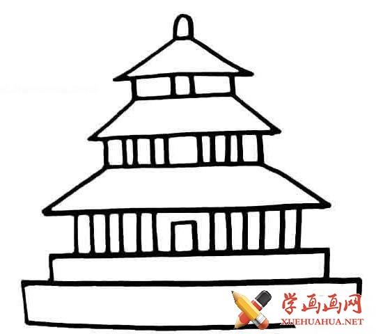 儿童学画画_北京天安门和天坛的简笔画图片