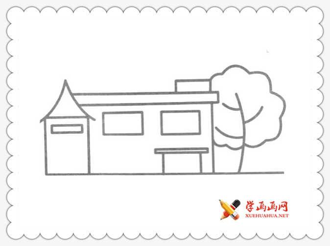 8幅关于房子和树的简笔画