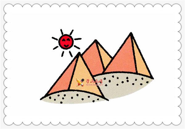 简笔画埃及金字塔的画法