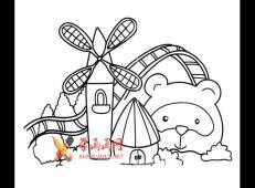 游乐场的简笔画画法图片