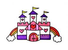 公主的城堡的简笔画画法教程