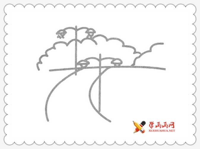 17幅简单漂亮的风景简笔画图片(1)