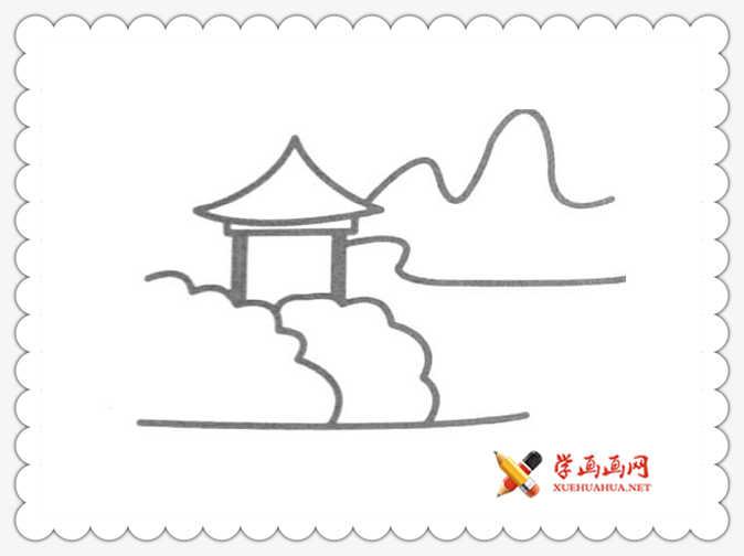 17幅简单漂亮的风景简笔画图片(6)