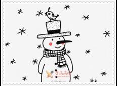 儿童学画画:漂亮的雪人简笔画教程