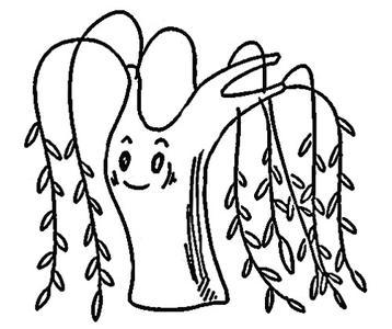 柳树简笔画图片7