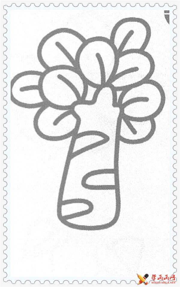 24幅关于树的简笔画图片合集