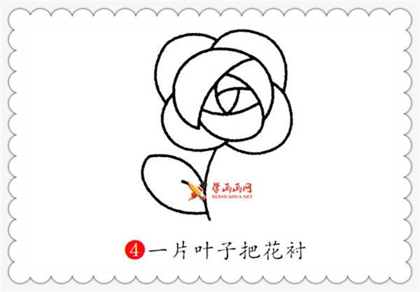 玫瑰花简笔画的画法详细步骤(4)