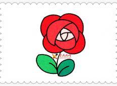 玫瑰花简笔画的画法详细步骤