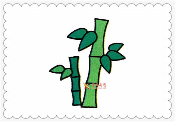 儿童简笔画竹子的画法教程