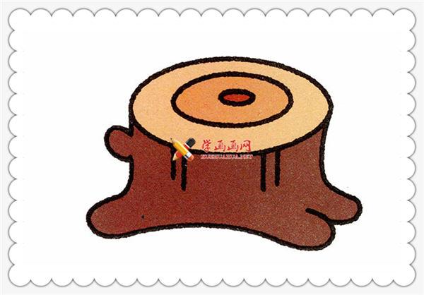 儿童学画画教程:简笔画小树桩的画法(7)