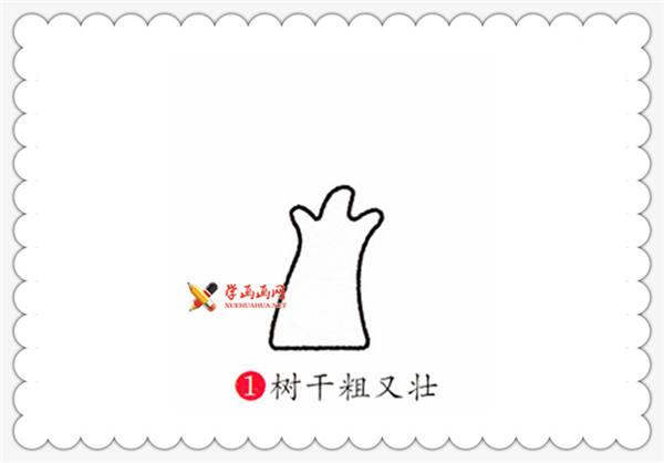 儿童画教程:榕树的简笔画画法(1)
