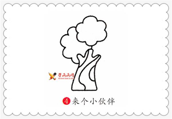 儿童画教程:榕树的简笔画画法(4)