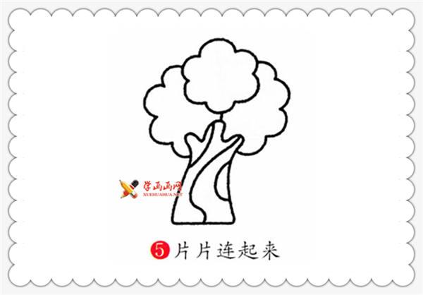儿童画教程:榕树的简笔画画法(5)
