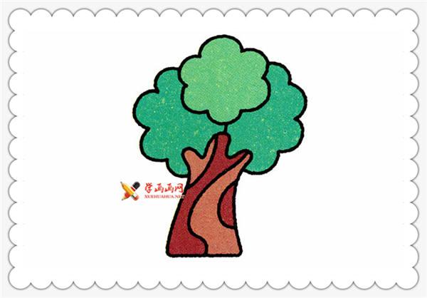 儿童画教程:榕树的简笔画画法(7)