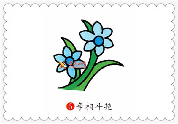 简笔画兰花的画法__植物
