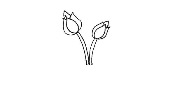 怎么画月季花?儿童简笔画月季花的画法步骤教程(4)