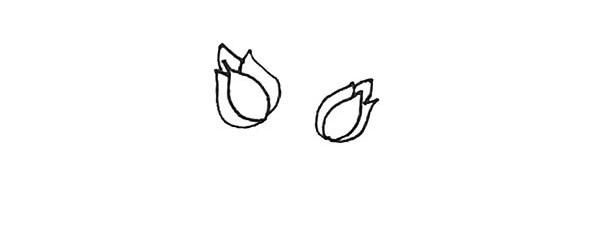 怎么画月季花?儿童简笔画月季花的画法步骤教程(5)