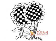 向日葵的简笔画画法图片素材大全