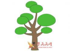 松树的简笔画画法素材大全【彩色】