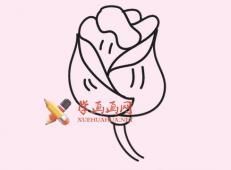 玫瑰花的简笔画画法图片大全