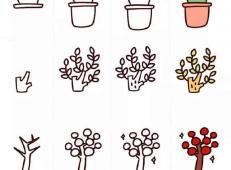 4款可爱的植物的简笔画画法教程