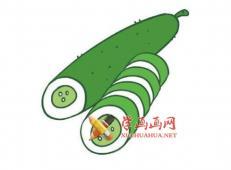 黄瓜的简笔画画法素材【彩色】
