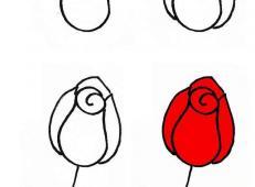 漂亮的花朵的简笔画画法教程【彩色】