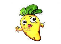 可爱的萝卜的简笔画画法教程