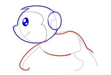 怎么画猴子-猴子简笔画步骤4