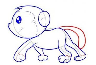 怎么画猴子-猴子简笔画步骤图解(7)