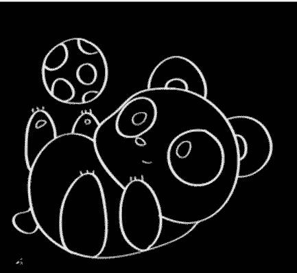 简笔画教程:熊猫简笔画图片【动画步骤】