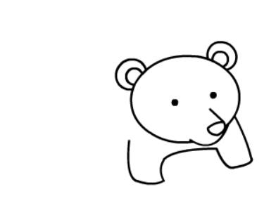 棕熊简笔画图片(8)
