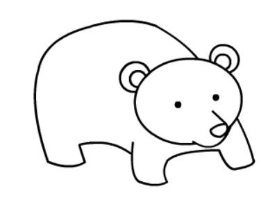 棕熊简笔画图片(9)