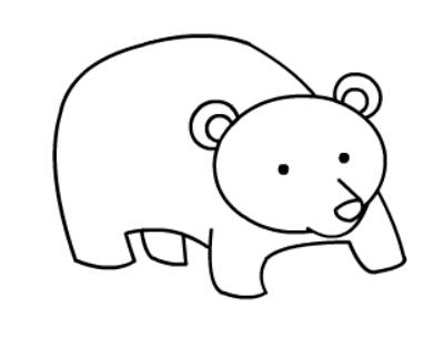 棕熊简笔画图片(10)
