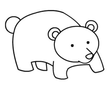 棕熊简笔画图片(11)