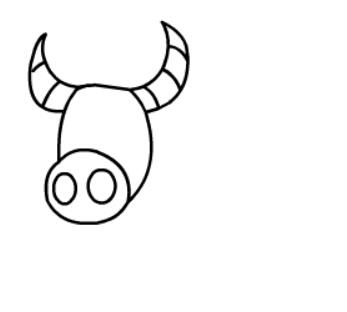 牛简笔画图片(6)